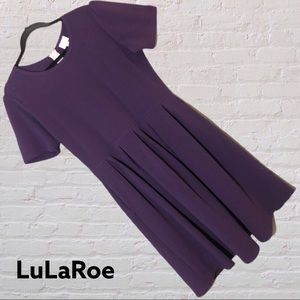 LuLaRoe Solid Purple Amelia Dress 2XL